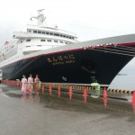 田子の浦港に客船が富士山観光として初寄港