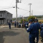 水防団水害危険個所合同巡視に随行。