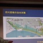 水害常襲地での水害対策が進みます。江尾江川改修計画について
