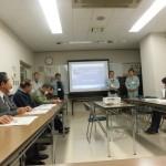 水害対策としての江尾江川の河川改修事業状況